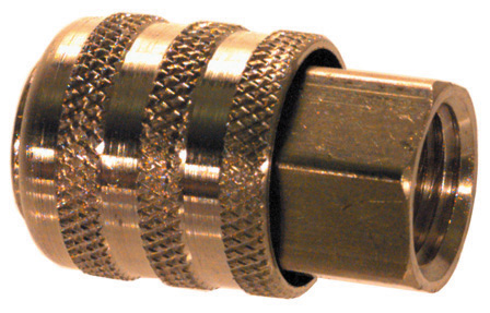 1/4 Inch Fnpt Brass Closed Straight Lock-On Air Chuck