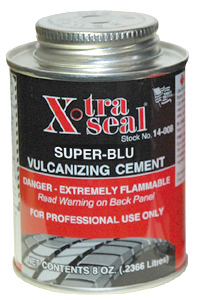 32 oz X-Tra Seal Heavy-Duty Super-Blu Vulcanizing Cement Flammable