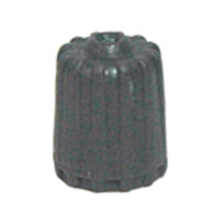 Gray Plastic Tpms Valve Cap With Red Silicone Seal