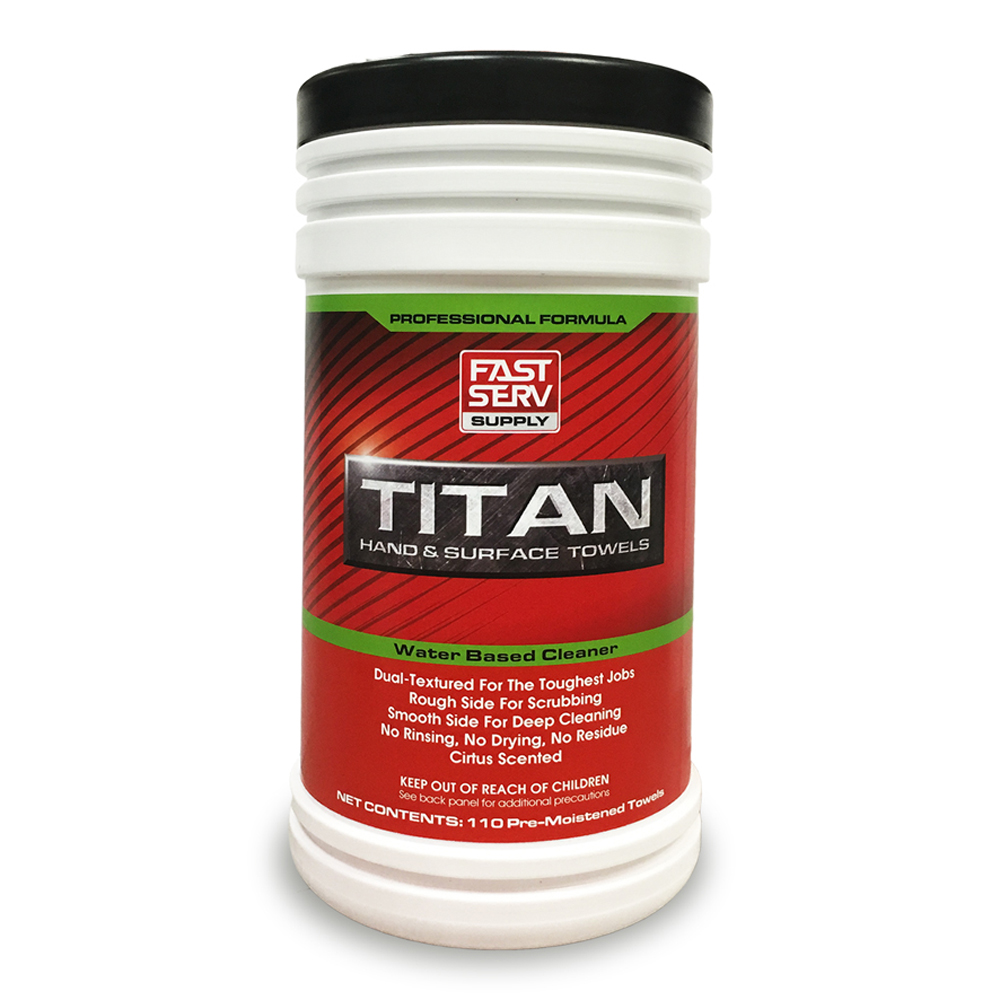 Titan Hand & Surface Towels Dual-Textured Towels - 110 Count Tub Case of 4