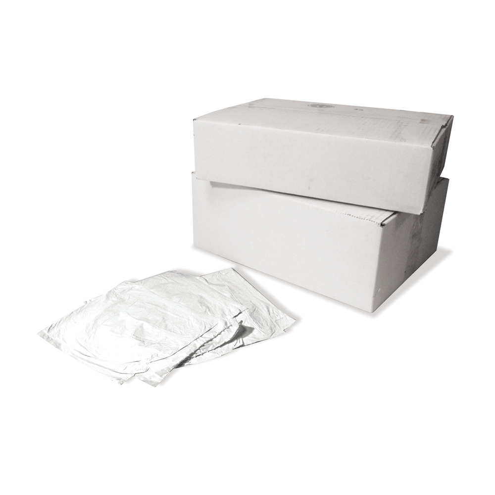 12 - 16 Gal 32 Inch x 24 Inch x 4 Mil White Plastic Premium Low Density Coreless Extra Heavy Grade Can Liner