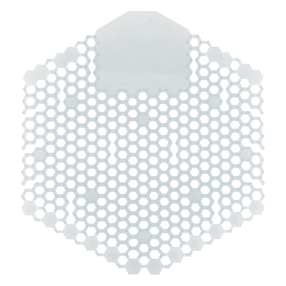 Fresh Products Wave 3D Urinal Screen - Honeysuckle - Clear
