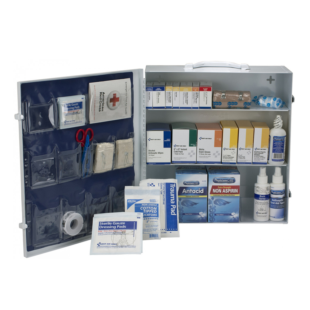 First Aid Station 3 Shelf Unit - 100 Person