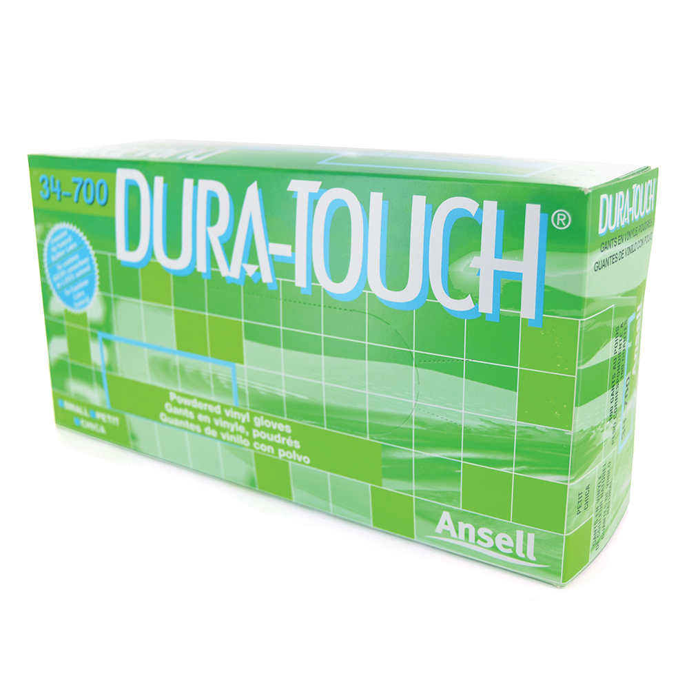 Dura-Touch Vinyl Powdered Gloves Large - Box of 100