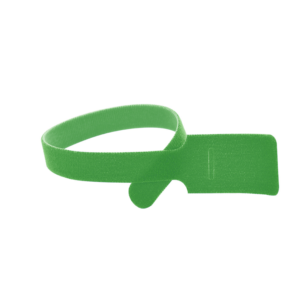 11 Inch x 1/2 Inch Velcro Grip Tie Resealable Cable and Wire Tie - Green