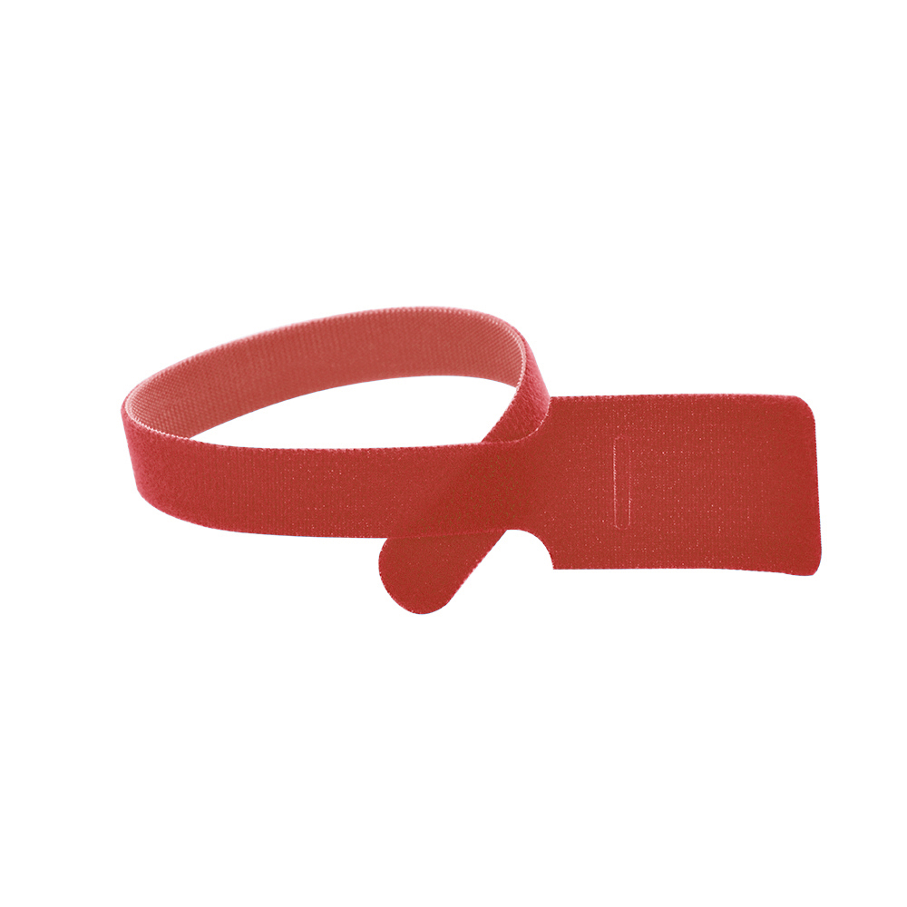 11 Inch x 1/2 Inch Velcro Grip Tie Resealable Cable and Wire Tie - Red