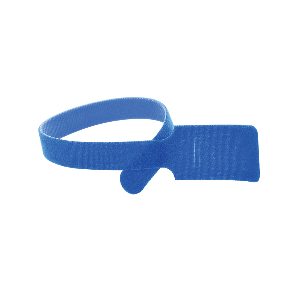 11 Inch x 1/2 Inch Velcro Grip Tie Resealable Cable and Wire Tie - Blue