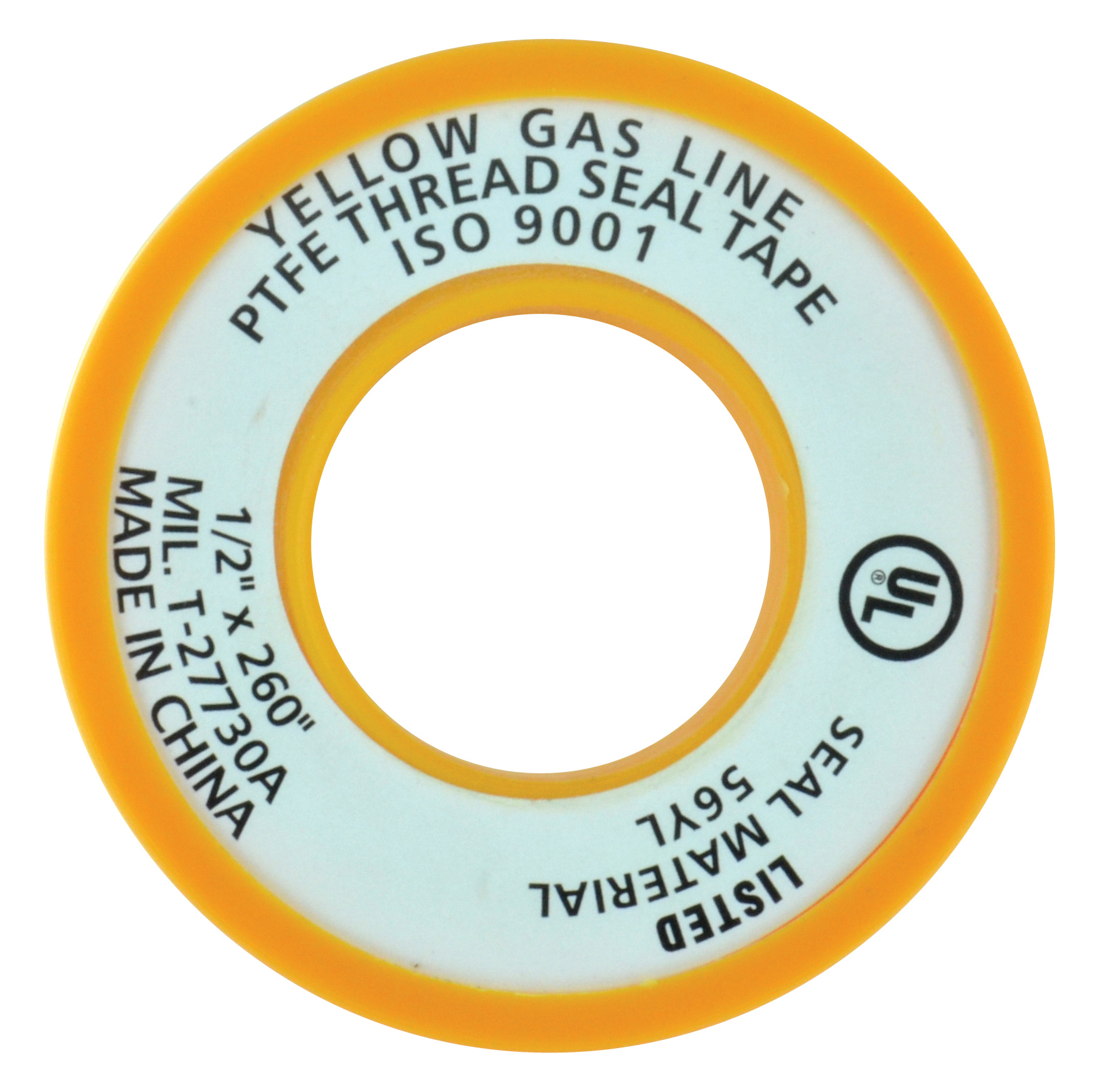 1/2 Inch x 260 Inch Gas Line Ptfe Tape Yellow
