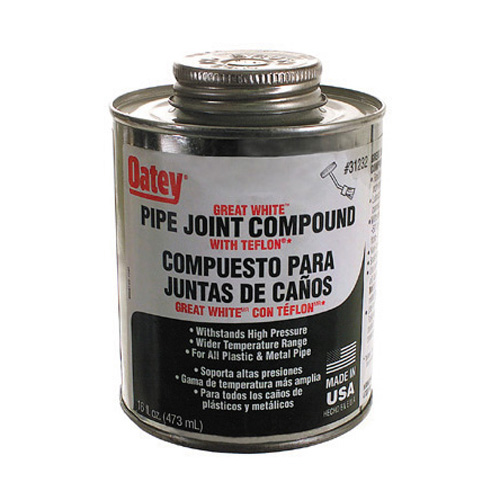 Oatey Great White Pipe Joint Compond With Ptfe - 16 oz