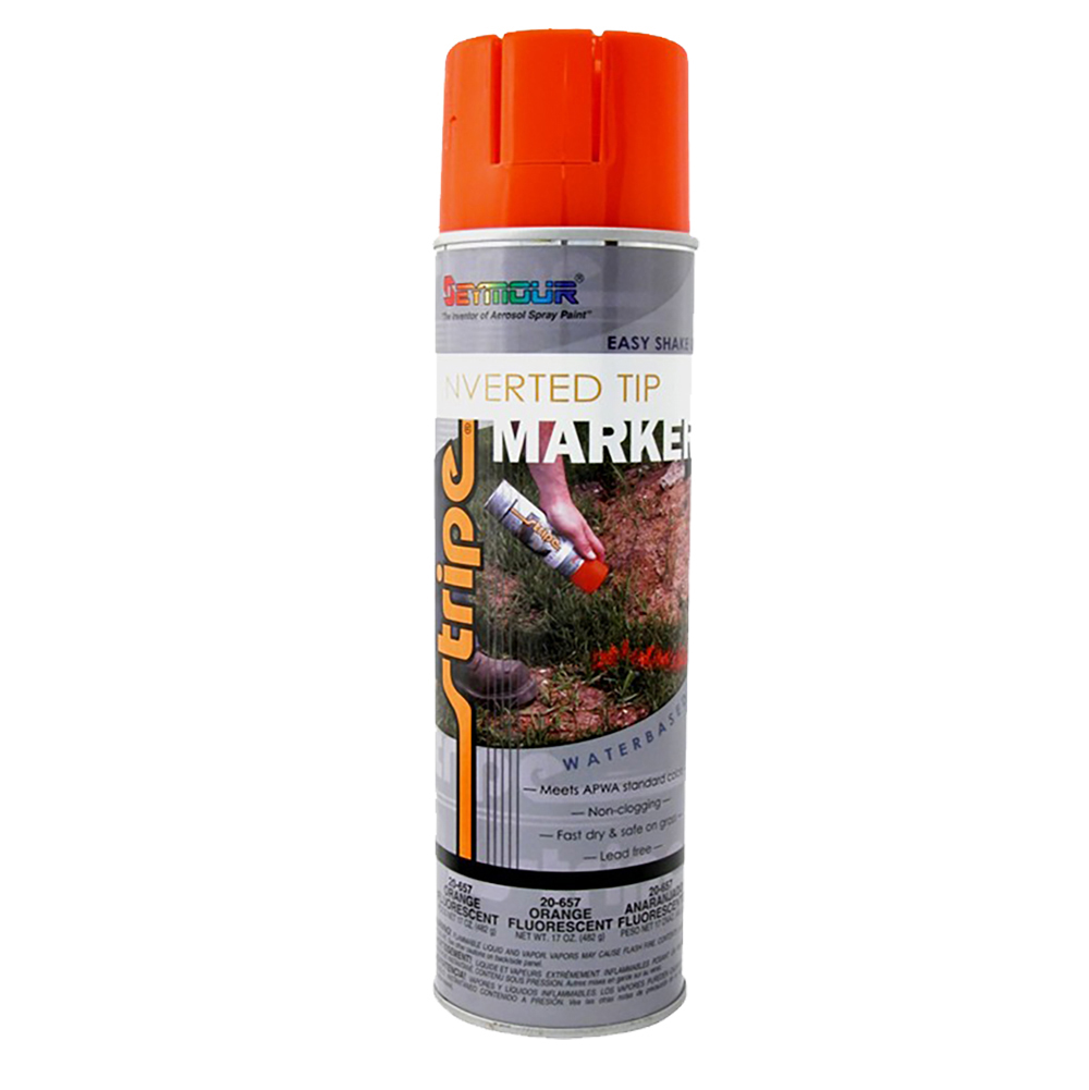 Seymour Utility Marking Paint Aerosol Fluorescent Orange - 20 oz