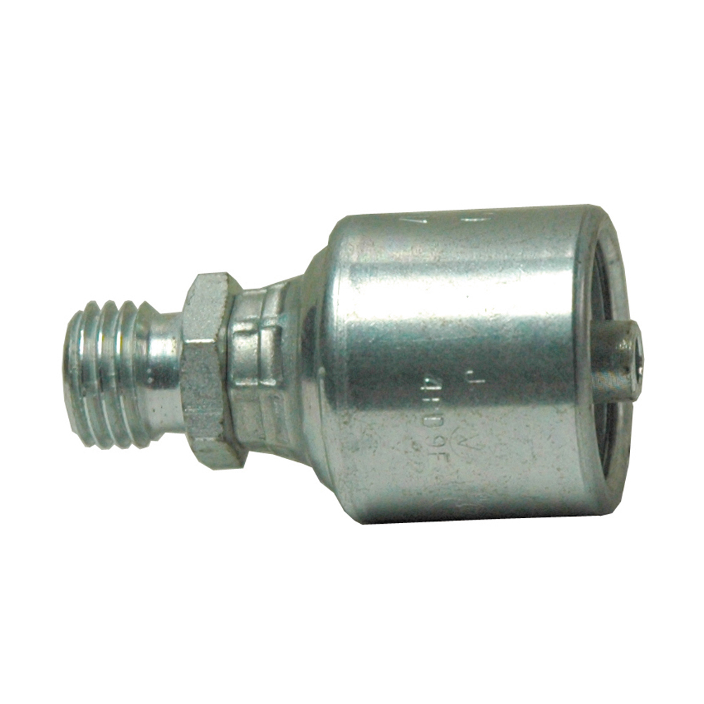 #10 x 1/4 Inch x 10 mm Male DIN 24 Degree Cone - Heavy Series Tuffcoat Lead Free MegaCrimp Coupling