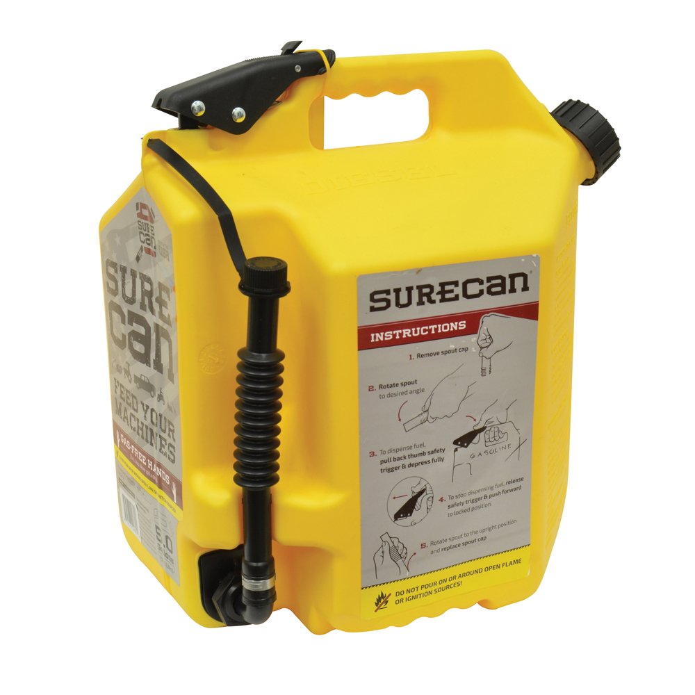 5 Gallon Diesel Surecan Gasoline Can With Flexible Rotating Nozzle
