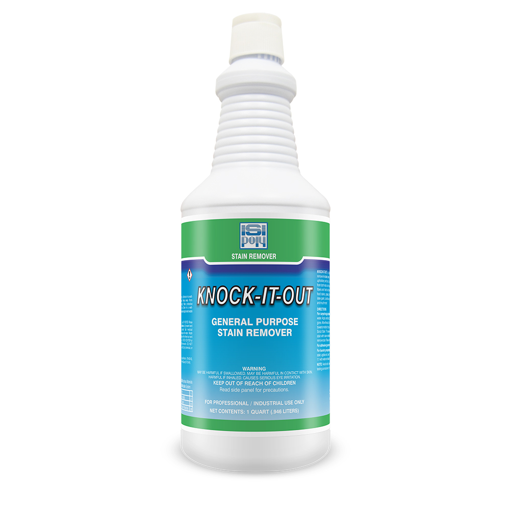 1 Qt Isi-Poly Knock-It-Out Stain Remover