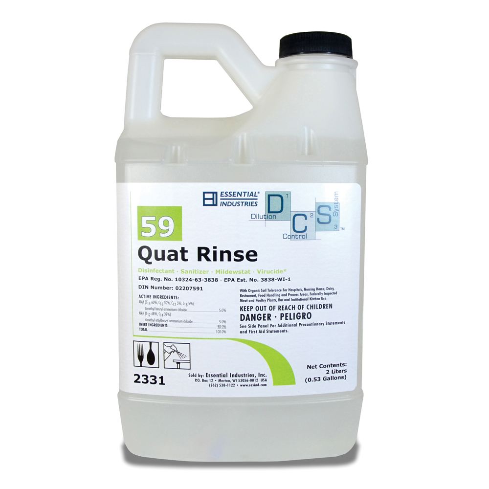 Cdp #59 Quat Rinse - 2 Liters - Pack of 4