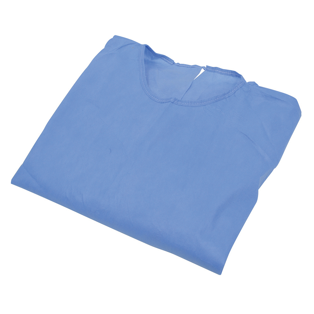 Blue Isolation Gowns One-Size - Set of 10