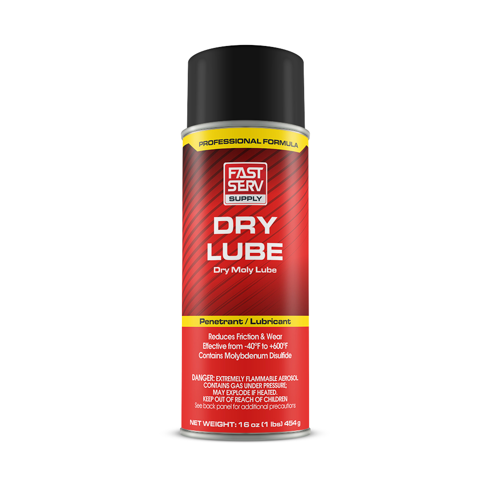 FastServ Dry Lube Dry Moly Lubricant - Net Contents 12 oz